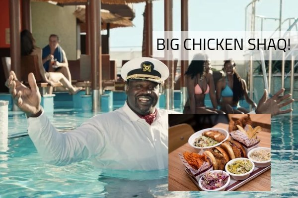 "Shaq's ""Big Chicken Shaq"" comes to Carnival!"