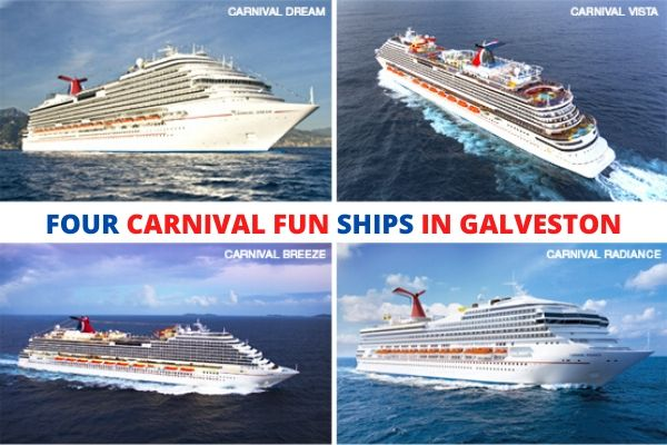 Carnival's 4 Fun Ships in Galveston