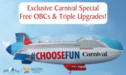Exclusive Carnival Sale – Free Tripple Upgrades and Onboard credit