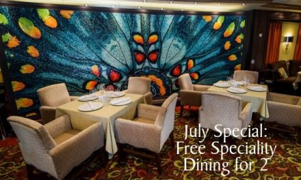 July Special: Free Specialty Dining Experience for Two