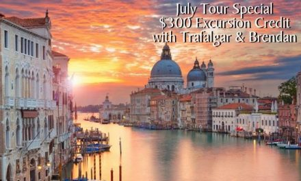 July Tour Exclusive: $300 Excursion Credit