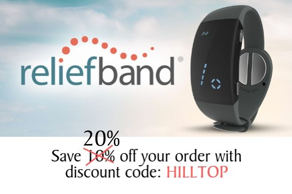 Save 20% off Reliefband (Motion Sickness relief!)